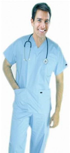 Scrub set 6 pocket solid unisex half sleeve (3 pocket top 3 pocket pant)