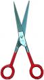 Barber scissor (red)