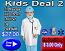 Kids deal 2(stethoscope,kid labcoat,kids scrub set,scrub cap,face mask)