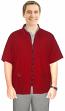 Microfiber barber jacket 3 pocket half sleeve with zipper