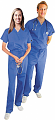 Scrub set $11.50 2 pocket normal unisex solid half sleeve (top 1 pocket with bottom 1 pocket)