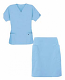 Scrub skirt set 4 pocket ladies (2 pocket top 2 pocket skirt)