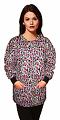 Jacket 2 pocket printed unisex full sleeve in purple & pink print with rib
