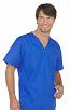 Top v neck 1 pocket solid half sleeve unisex