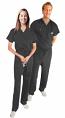 Stretchable Scrub Set 2 Pocket Normal Unisex Solid Half Sleeve (Top 1 Pocket with Bottom 1 Pocket) in 97% Cotton 3% Spandex