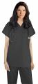 Stretchable Top v neck 1 pocket solid ladies half sleeve in 97% Cotton 3% Spandex