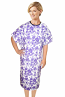 Patient gown half sleeve printed back open, tie-able  from two points In Multiple prints