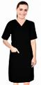Microfiber nursing dress half sleeve elastic waist v neck with 3 front pockets below knee length