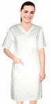 Nursing dress half sleeve elastic waist v neck with 3 front pockets below knee length