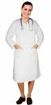 V neck full sleeve nursing scrub dress with 2 front pockets knee length