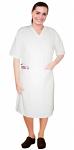 V neck half sleeve nursing dress with 2 front pockets knee length