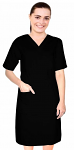 Microfiber nursing dress half sleeve elastic waist v neck with 3 front pockets below knee length