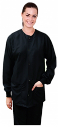 microfiber jacket 2 pocket full sleeve solid unisex with  rib (2 front pocket).