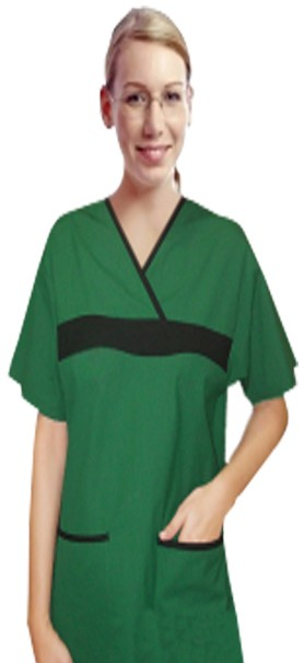 Set 5 pocket ladies half sleeve fashion contrast with matching bottom (top 2 pkt with bottom 3 pkt)