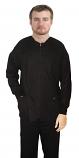 Jacket 2 pocket solid full sleeve unisex with zip rib