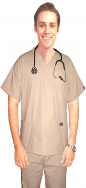Scrub set 4 pocket solid unisex half sleeve (3 pocket top with normal 1 pocket pant)