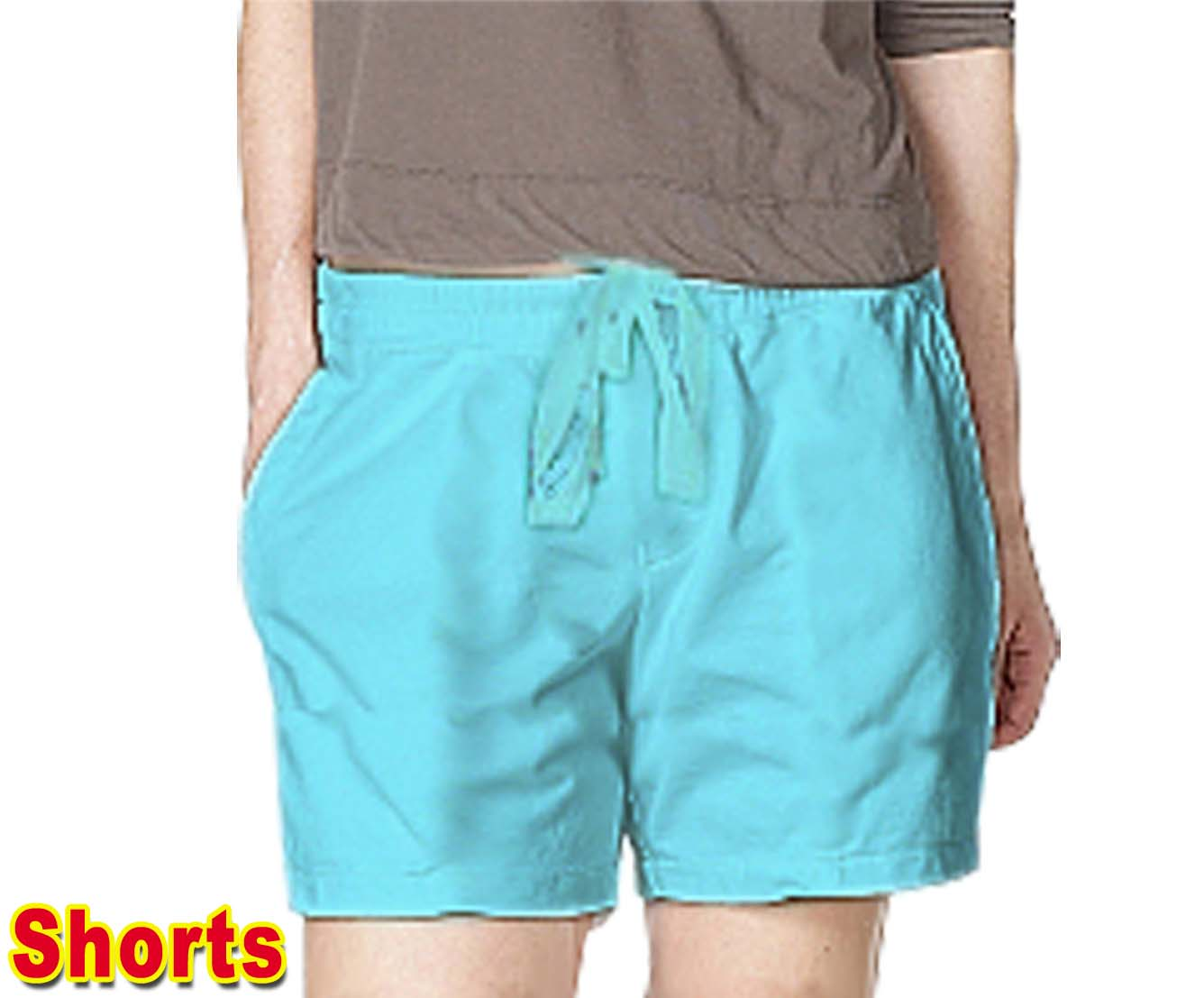 Microfiber fabric short with 2 side pocket 1 back pocket (inseam is 5 inches)