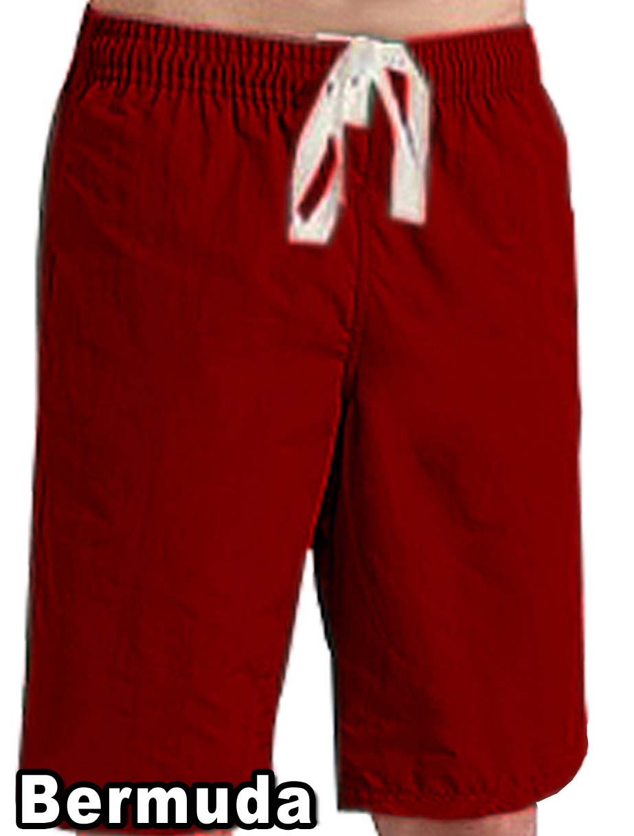 Microfiber fabric bermuda with 2 side pockets 1 back pocket (inseam is 11 inches)