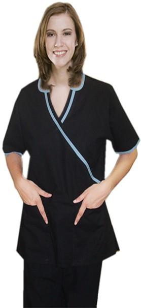 Inset v-neck 4 pocket set half sleeve (top 2 pocket with bottom 2 pocket boot cut)