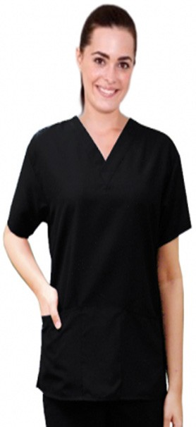 Microfiber scrub top 2 pocket half sleeve unisex