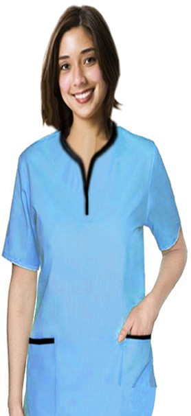 Microfiber set 5 pocket ladies half sleeve tunic style solid (top 2 pocket with bottom 3 pocket)