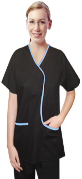 Set 5 pocket ladies contrast piping l style solid top half sleeve (top 2 pocket with bottom 3 pocket)