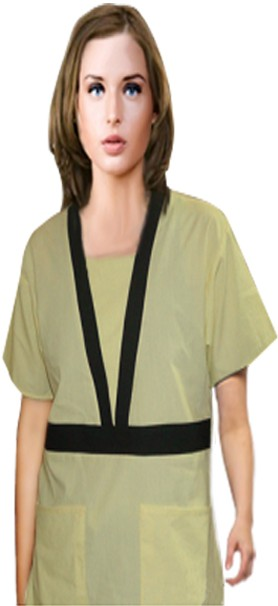 Empire waist contrast trim 4 pocket set half sleeve with matching bottom (top 2 pkt with bottom 2 pkt boot cut)