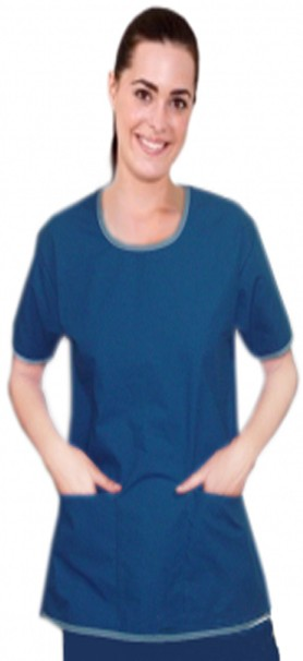 Microfiber round neck with border piping style 5 pocket set half sleeve (top 2 pocket with bottom 3 pocket)