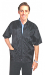Spa jacket 3 pocket half sleeve with zipper (nylon fabric) 100% polyester soft finish