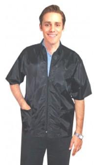 Barber jacket 3 pocket half sleeve with zipper (nylon fabric) 100 perc polyster soft finish