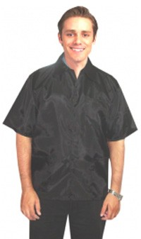 Barber jacket 3 pocket half sleeve with snap buttons (nylon fabric) soft finish