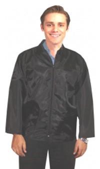 Barber jacket 3 pkt full sleeve with zipper (nylon fabric)