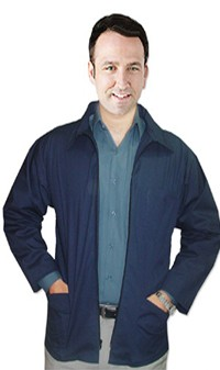 Barber jacket 3 pocket with zipper full sleeve poplin fabric