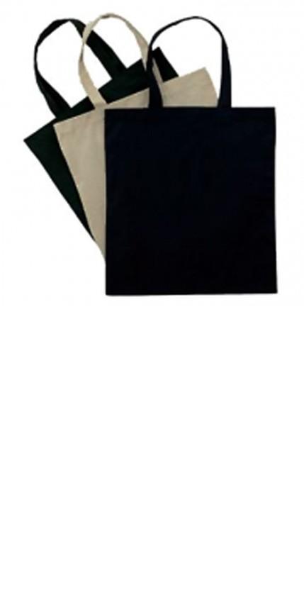 Hand bag in poplin fabric