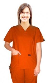 Scrub set 5 pocket solid ladies half sleeve (top 2 pocket with 1 pencil pocket and pant 1 cargo pocket & 1 back pocket)