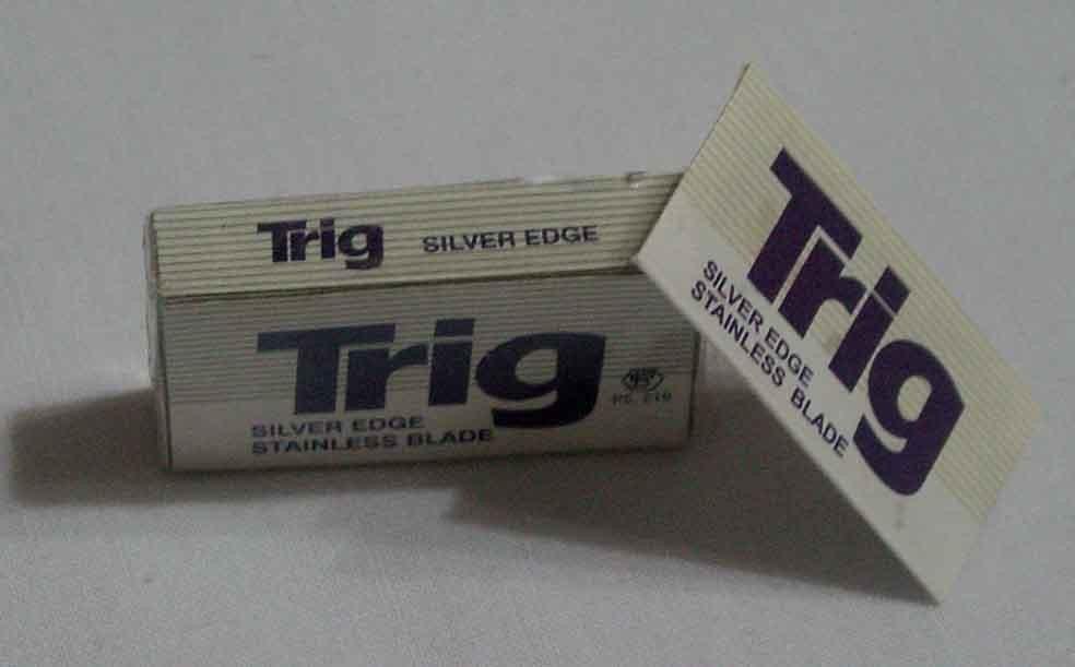 Trig silver edge stainless shaving blade