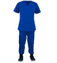 Jogger Scrub Set 4 pocket solid unisex half sleeve (2 pocket top and 2 pocket pant) in 37 Colors, Sizes XXS-12XL, Poplin Fabric