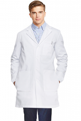 "Microfiber labcoat unisex full sleeve with plastic buttons 3 front pockets with side inside pockets(access to pockets from side) (100% Polyester)) in 36"",38"",40"",42"" lengths"