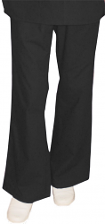 Stretchable Pant 2 side pockets flare leg waistband with drawstring and elastic both ladies in 97% cotton 3% Spandex