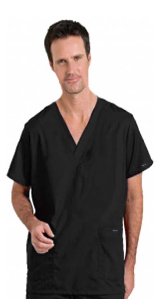 Stretchable Scrub set 4 pocket solid unisex half sleeves (2 pkt top, 2 pkt pant elastic drawstring pant) in 97% Cotton 3% Spandex