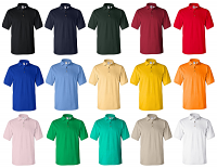 Pack of 100 Polo Tshirts Sizes XS-XL ( Color of your choice)