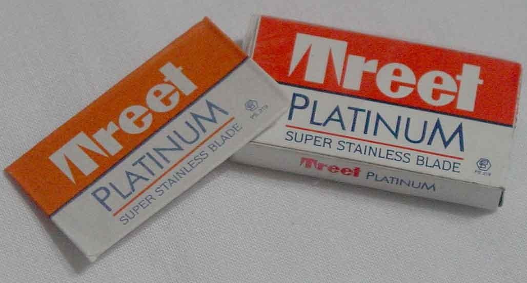 Treet platinum super stainless shaving blade