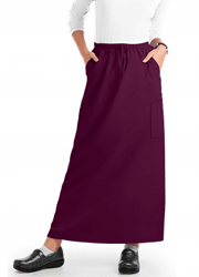 Cargo pockets ladies skirt A Line Full Elastic waistband (poplin fabric)
