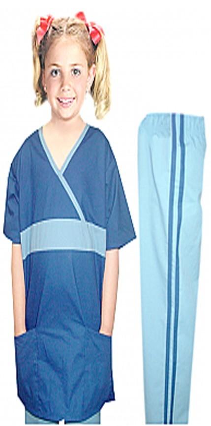 Children set 3 pocket half sleeve fashion contrast style  (top 2 pocket with bottom 1 pocket)