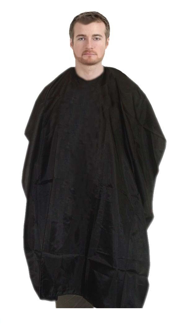 Barber cape round neck with velcro in 100 perc polyester