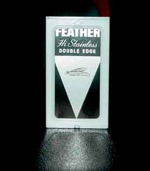 Feather high stainless double edge blade