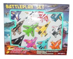 12 battle plane set with pull back action