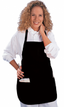 Spa apron poplin solid matching piping with 2 front pocket back open