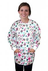 Jacket 2 pocket printed unisex full sleeve in sparrow print with rib