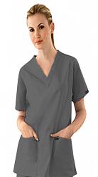 Stretchable Scrub set 7 pocket v neck ladies half sleeve (2 pocket top 5 pocket pant) in 97% Cotton 3% Spandex
